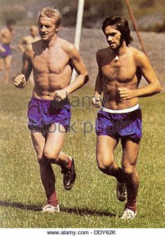 Denis Law and George Best, Manchester United footballers, 1960s. - Stock Image