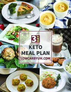 FREE 3 Day Keto Meal Plan Offer A printable 3 Day Keto Meal Plan featuring 20 recipes from Low Carb Yum. It's an easy way to ensure the correct macro ratios are achieved. Low Carb Dinner Recipes, Diet Recipes, Healthy Recipes, Keto Noodles, Keto Cinnamon Rolls, Keto Food List, Keto Meal Plan, Low Carb Keto, Paleo