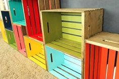 diy wood crate bookcase - for the playroom