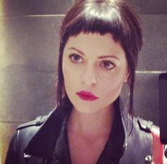 Marion Cotillard, Audrey Tautou, Shannyn Sossamon, 90s Angelina ... meh. Nasty Gal founder + CEO Sophia Amoruso clearly does baby bangs better. HAIR CUT AND STYLE BY STACY HO (image via Sophia's In...