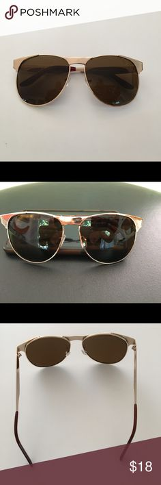 AJ Morgan•Retro Sunglasses•Gold•Brown•Amber I believe this to be brand new. No signs of wear. AJ Morgan Retro Style sunglasses. Glasses have an amber colored lens. Very Unique., Accessories Sunglasses