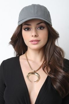 Stylish Baseball Cap - Grey