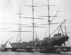 C.S.S. Shenandoah surrenders at Liverpool, 6th November 1865