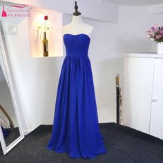 Find More Prom Dresses Information about A Line Roy Blue Prom Dresses 2017 Simple Long Chiffon Elegant Cheap Evening Gown Vintage Country Style Beach Dress,High Quality prom dresses 2017,China prom dresses Suppliers, Cheap chiffon prom dress from Tanya Bridal Store on Aliexpress.com