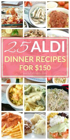 I just saved so much money on groceries with these 25 aldi dinner recipes. There is a wide spread of different recipes and all 25 aldi meals are only $150. Click through to grab the frugal recipes
