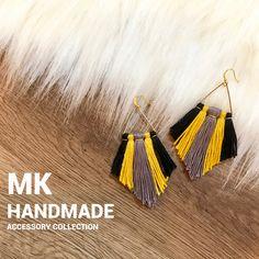 ハンドメイドマーケット+minne(ミンネ)|+3色フリンジ♡ピアスorイヤリングor樹脂