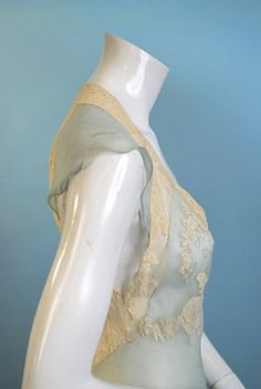 Image detail for -Vintage 1920 Light as a feather light blue silk georgette and dancing ...