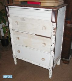Gorgeous chest of drawers - before