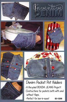 Muster  Musters Denim Pocket Pot Holder von InventiveDenim auf Etsy