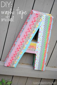 How to make a washi tape initial - and seal with Mod Podge!