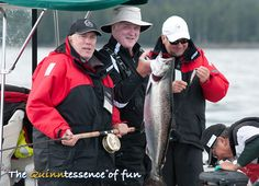 The  Quinntessence of fun. Enjoyable day fishing for Chinook salmon, Naden Harbour, BC.