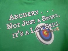 Archery really is. And it teaches a lot of other life skills. Archery Girl, Archery Bows, Archery Club, Hunting Camo, Archery Hunting, Hunting Tips, Archery Quotes, Hunting Quotes, Archery Shirts