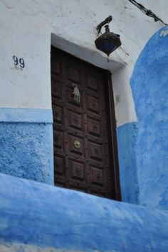 Photo story: Morocco's Capital Rabat: The hand-like door knob is called Hamsa, a symbol of wisdom and tolerance commonly used in the past by both Muslims and Jews.