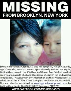 Mother & daughter missing from Brooklyn NY