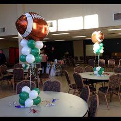 football banquet centerpieces - Google Search