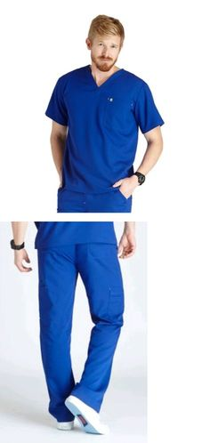 Sets 105432: New Figs Medium Royal Blue Scrubs Uniform Set For Medical And Dental Professionals -> BUY IT NOW ONLY: $52.99 on eBay!