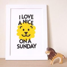 Mums deserve a nice lion (and a good pun) on a Sunday! A bright screen print by Hello DODO duo Ali and Jam is perfect for any bedroom and sure to raise a smile.