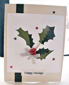 handgemachte Iris Falten Weihnachtskarte-Happy von sayitwithblooms