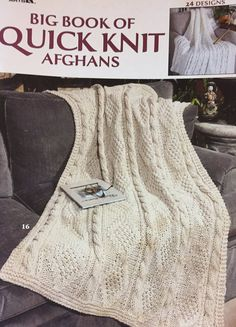 Leisure Arts 3137 Big Book of Quick Knit Afghans 24 Knitting Patterns