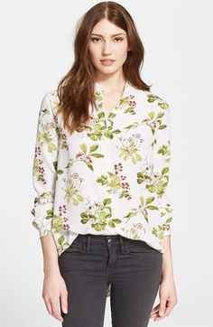 Equipment 'Henri' Collarless Silk Blouse available at #Nordstrom