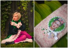 Frida Kahlo inspired wool gloves www.facebook.com/AnuKaelussooDesign