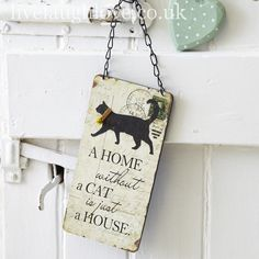 Home & Cat Plaque