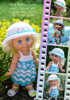 Doll Pattern Crochet Marine Girl for by KasatkaDollsFashions