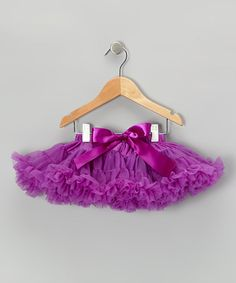 Take a look at this Plum Purple Couture Pettiskirt - Infant & Toddler by Chicaboo on #zulily today!