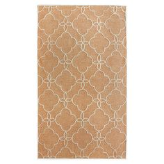 Anchor your dining set or patio seating group in chic style with this hand-tufted rug, showcasing a quatrefoil trellis motif.   Pro...