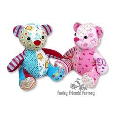 Melody Memory Bear Keepsake Toy INSTANT DOWNLOAD Sewing Pattern PDF (Default)