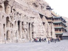 The famous Yungang Grottoes near Datong city