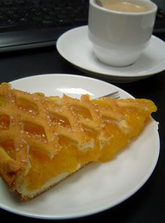 Dutch Delights: Limburgse Vlaai . Pastry special from Limburg. This one is with apricot.