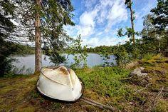 #landschap #Zweden #boot