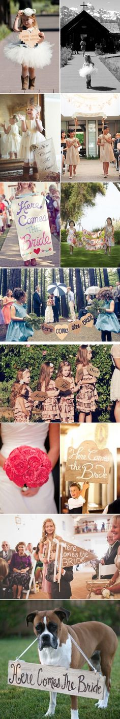Ideas for flower girls and page boys