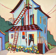 """Back of the House,"" painting by Carolee Clark"