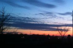 Eldora Iowa at Sunset