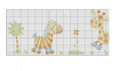 This Pin was discovered by Ανα Cross Stitch Baby, Cross Stitch Charts, Cross Stitch Patterns, Cross Stitching, Cross Stitch Embroidery, Towel Embroidery, Baby Patterns, Baby Animals, Kids Rugs