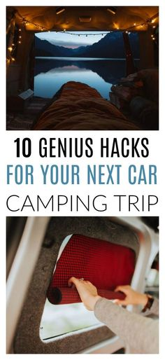 I'm so glad I found these 10 all-time best car camping hacks. I love going car c. I'm so glad I found these 10 all-time best car camping hacks. I love going car camping, but it is easy to run out of Camping Ideas, Camping Hacks, Camping Supplies, Camping Checklist, Camping With Kids, Family Camping, Camping Storage, Camping Guide, Car Hacks