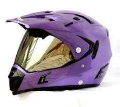 Masei 311 Motocross ATV DOT Dirtbike Helmet PURPLE M L XL