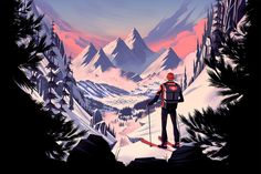 Illustration for the Australian based outdoor company, Every Mountain.