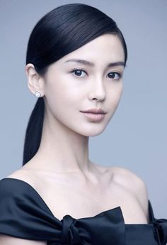 low ponytail x asian :: Angelababy World Most Beautiful Woman, Beautiful Asian Women, Beautiful People, Asian Woman, Asian Girl, Mixed Race Girls, Non Blondes, Bobe, Angelababy