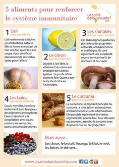 La Santé dans l'Assiette: Fiche pratique - 5 aliments pour renforcer le système immunitaire