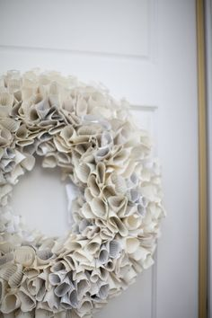 Paper wreaths? Yes. Please. Photography by rachelbrooksblog.com
