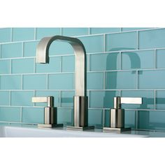 @Overstock.com - High Arch Satin Nickel Widespread Bathroom Faucet - Modernize your bathroom with a high arch satin nickel widespread bathroom faucet. The double handle levers and square lines will change a bathroom from ordinary into a contemporary showpiece. The 8 7/8-inch high spout comes with a matching pop-up drain.  http://www.overstock.com/Home-Garden/High-Arch-Satin-Nickel-Widespread-Bathroom-Faucet/6511199/product.html?CID=214117 $111.99