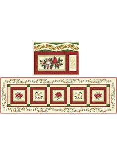 Christmas Traditions Table Runner & 4 Place Mats Kit