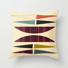 Mid Mod Burger Throw Pillow by Jenn Ski - $20.00.  Gonna buy some of these!