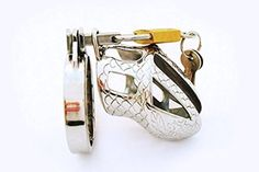 """Short Chastity Device - Adult Manhood Academy Penis Male Defend Chastity Belt Lock Cage - One Base Ring Cock Ring): Health & Personal Care MetalMale (1.5"""" (40mm) -- Awesome products selected by Anna Churchill"""