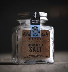 PACKAGING / Old Salt — Designspiration