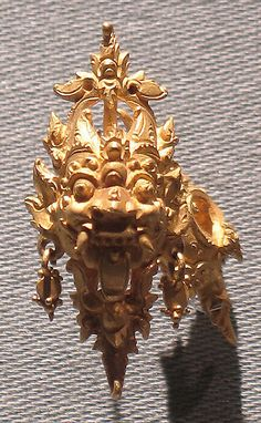 Ear Ornament with Kala Motif Period: Eastern Javanese period Date: early 9th–14th century