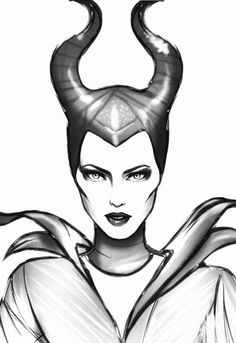 Maleficent Disney Coloring Pages - Coloring Pages Disney Drawings Sketches, Disney Character Drawings, Cute Disney Drawings, Art Drawings Sketches, Cartoon Drawings, Badass Drawings, Cool Art Drawings, Pencil Art Drawings, Animal Drawings